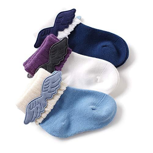 LUO Calcetines Calcetines anties Patines para niños, Calcetines para niños para niños, encajan con Fuerza, niños y niñas de 0 a 36 Meses, 3 Pares (Color : B, Size : 6-18 Months)