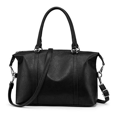 """❤ Durable Material ❤ This hobo tote bag is made of soft PU leather, it's vegan not from animals, good hand-touch feeling, polyester lining. Quality Hardware holds everything togather sturdy. ❤ Capacity ❤ This women boston bag measure at 14.5""""*5.4""""*11..."""