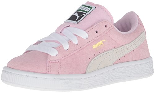 PUMA Baby Boys Suede Classic Sneaker, Pink Lady/White/Team Gold, 13.5 Infant