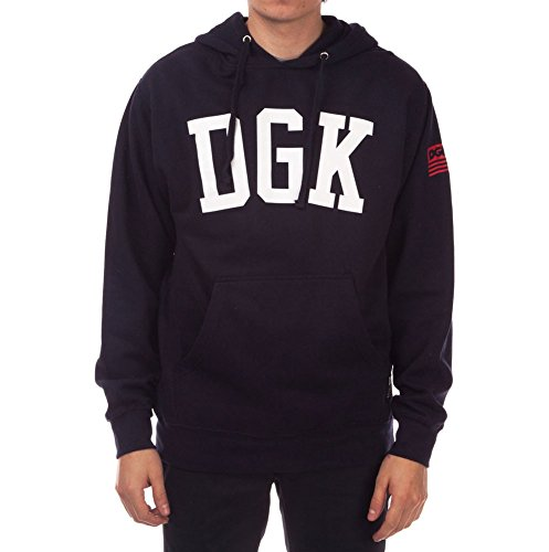 Unbekannt DGK Men's American Icon Long Sleeve Hoodie Blue S