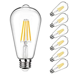 💡【Save Your Money】- Replace 100W incandescent bulb by 10W LED Filament Light Bulb, only cost $1.2 per year (used 3hrs/day), saving up to 90% on electric bill of lighting while providing the same light quality but less heat output. E26 Edison Bulb off...