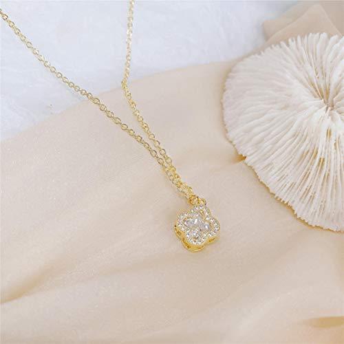 CBVG 14 k Oro Real Colorido Arco Iris circón Collar para señora Encanto Creativo clavícula Bijoux Colgante joyería Regalo
