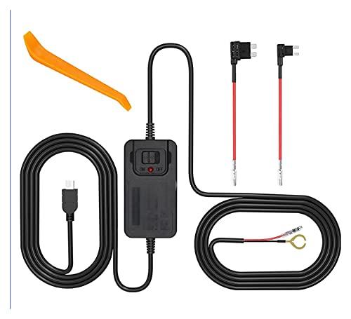 FENGFENG Sun Can Coche DVR Hardwire Kit Mini USB Kit de Alambre Duro Fusible Dash CAM 12V-36V a 5V 1.5-2.0A Cargador de cámara Cable de alimentación Cable de alimentación 2 Cable de Fusible