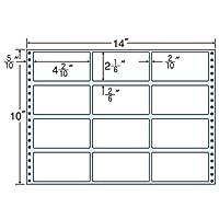 東洋印刷 タックフォームラベル 14インチ ×10インチ 12面付(1ケース500折) MT14F