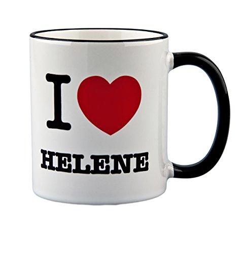 Tasse mit Spruch: I Love Helene