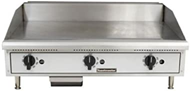 "Toastmaster TMGT36 36"" Stainless Steel Griddle, Gas, Countertop, Natural Gas"