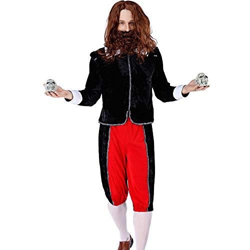 Traje De Halloween Juego De Roles Masculino Viejo Hombre Loco Exorcista M