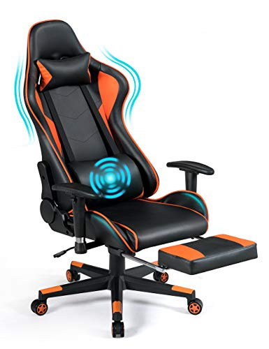 POWERSTONE Gaming Chair - Racing Chair with Massage Lumbar...