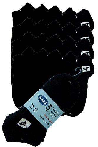 r-dessous 20 Paar Damen Kurzschaft Sneaker Sport Socken Füsslinge schwarz 36-42 40-46 Groesse: 40/46