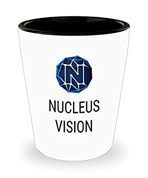 Official Nucleus Vision Cryptocurrency Bar Drinking 1.5oz Shot Glass Crypto Miner Blockchain Invest Trade Buy Sell Hold NCASH