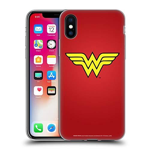 Head Case Designs Offizielle Wonder Woman DC Comics Klassisch Logos Soft Gel Huelle kompatibel mit iPhone X/iPhone XS
