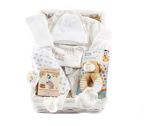 Wickers Just For Baby Premium Hamper - NEUTRAL   Wickers Gift Baskets