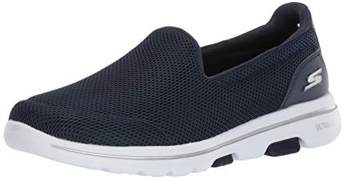 Skechers Women's GO Walk 5-15901 Shoe, Navy/White, 7.5 W US