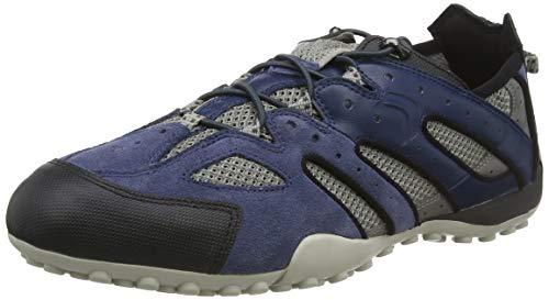 Geox Uomo Snake J, Zapatillas para Hombre, Azul (Blue/Grey C0024), 42 EU