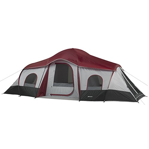 OZARK Trail Family Cabin Tent (Red, 10 Person)