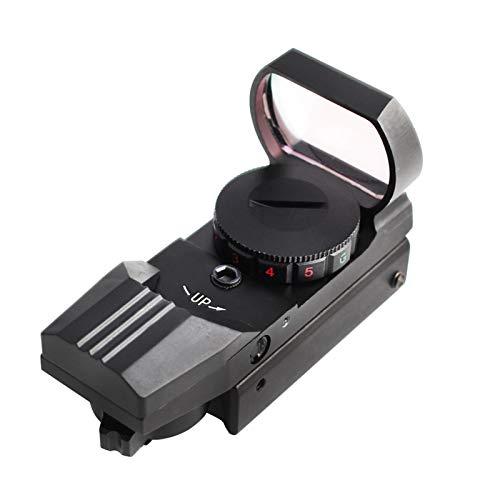 azurely Rotpunktvisier, 11mm / 20mm Schiene 4 Stile Reteticles Roter und grüner Punkt Visier Zielfernrohr zum Schießen, Jagen, Vogelbeobachten