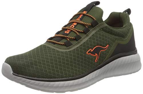 KangaROOS Herren KM-Mate Sneaker, Olive/Jet Black 8010, 43 EU