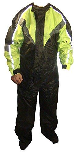 RKsports - Mono de una pieza para motocicleta, impermeable, cuerpo completo, para la lluvia, tallas grandes