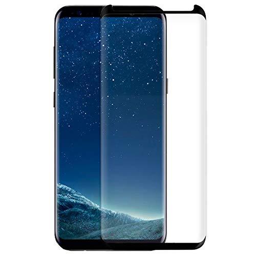 iGlobalmarket Protector Pantalla Cristal Templado, Antiarañazos, Antihuellas, Sin Burbujas, 9H, para Samsung G955 Galaxy S8 Plus (Curvo)