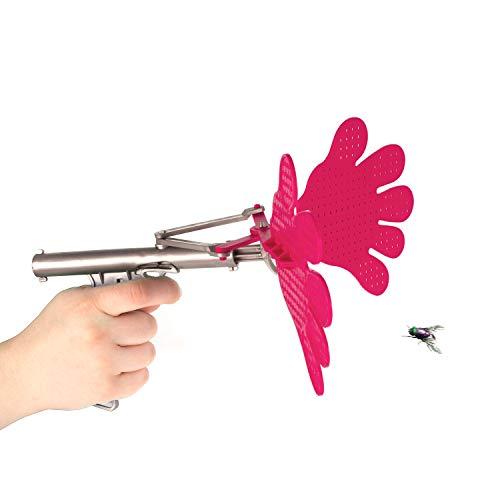 Gardigo Fliegenklatsche mit Spaßfaktor und Suchtgefahr Pistolenart, pink, Insektenvernichter Fliegenfänger