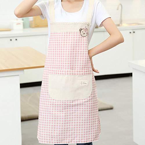 Goey Dubbellaags dubbellaags katoen en linnen dames schort keuken eenvoudige gestreepte jurk familie chef-kok commercieel restaurant