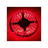 Desineo - Tira LED (5 m, IP68, impermeable, sumergible), color rojo