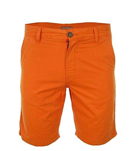 Napapijri Nayerou Herren Men Shorts Kurz Hose Chino Bermuda Orange New Logo (35)
