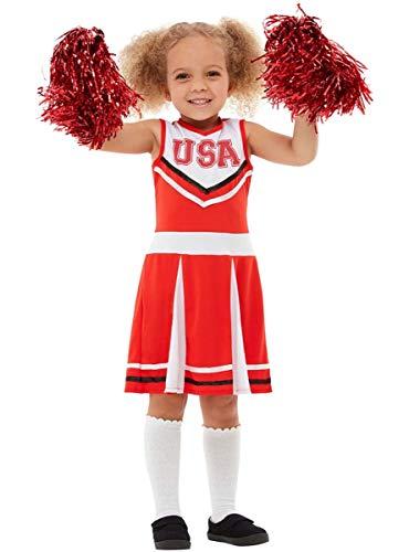 Funidelia | Disfraz de Animadora para niña Talla 4-6 años ▶ Cheerleader, Fútbol Americano, Instituto, Profesiones - Color: Rojo - Divertidos Disfraces y complementos