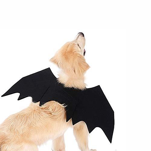 XMxx Disfraz de gato para perro mascota Halloween alas de murcilago vampiro-L