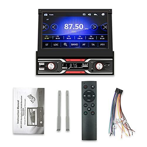 ZWMBAOR Car Mp5 Player,Pantalla Retráctil Bluetooth 7 Pulgadas,Admite Interconexión Teléfono Móvil Sistema Dual,Conexión Inalámbrica Inteligente,para Modificación Automóviles