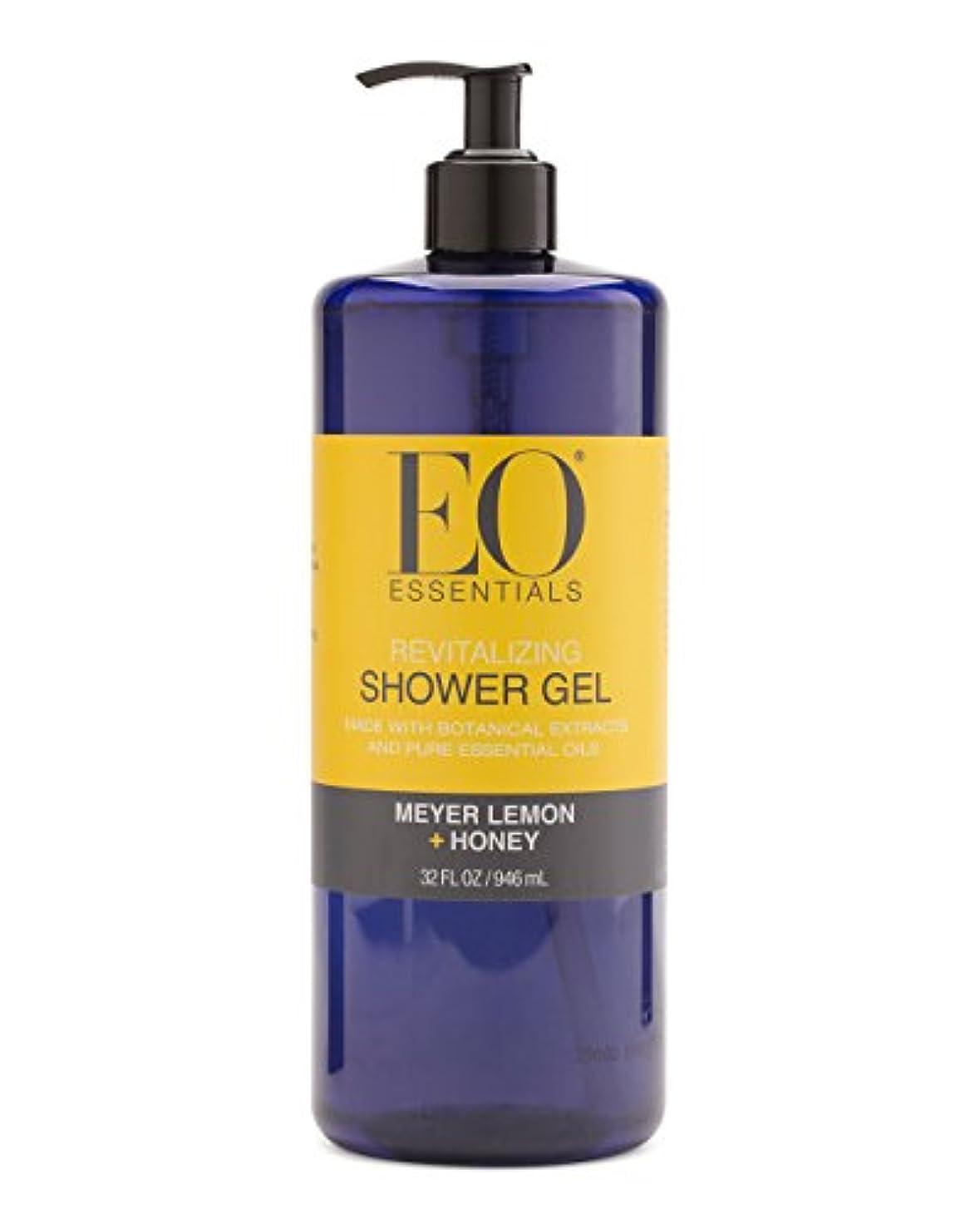 皿開始スチュワーデスMeyer Lemon + Honey Shower Gel (32 Oz) by EO Essentials [並行輸入品]