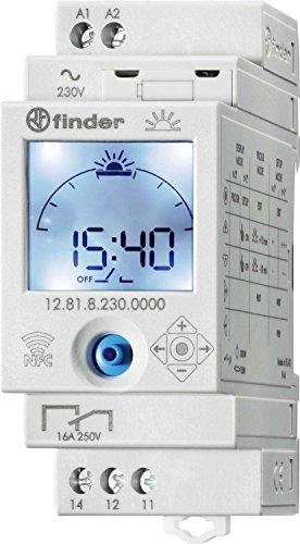 Finder 12.81.8.230.0000 ASTRO-Zeitschaltuhr mit Astroprogramm 1 Kanal NFC