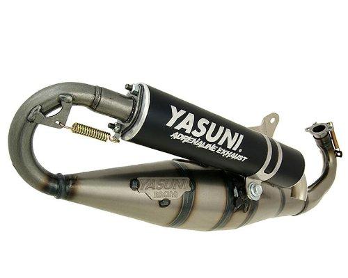 Auspuff YASUNI Carrera C16 Schwarz für Zip Base 50cc, Fast Rider, RST, New TPH, NTT, ROLLER