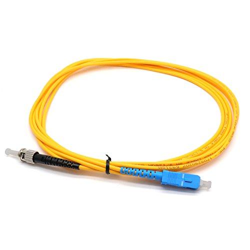 Yootop 2Pcs ST to SC Single-Mode Fiber Patch Cable Simplex 9/125...