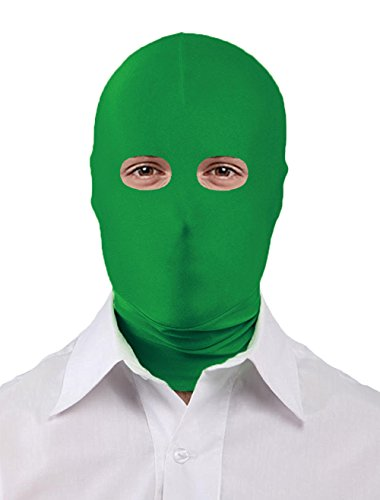 Seeksmile Unisex Spandex Full Cover Zentai Hood Mask (Adult Size, Forest Green Open-Eyes)