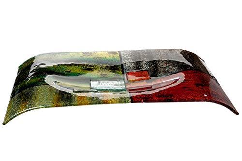 GILDE GLAS art Schale handgefertigt aus Glas B 56 cm