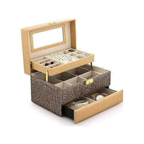 LKNJLL Caja de joyería, Joyas Colecciones Organizador, Regalo de Las Muchachas (Color : A)
