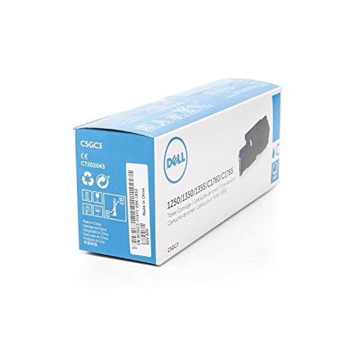 Dell Original Laser-Tonerkartusche für 1250/1250C/1350cn/1350CNW/1355CN/1355CNW/C1760/C1760nw/C1765/C1765NF/C1765nfw/C17x x–Cyan