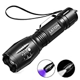 LETION Torcia UV LED Lampada Ultravioletti 395nm torcia Blacklight UV 2 in 1,4...