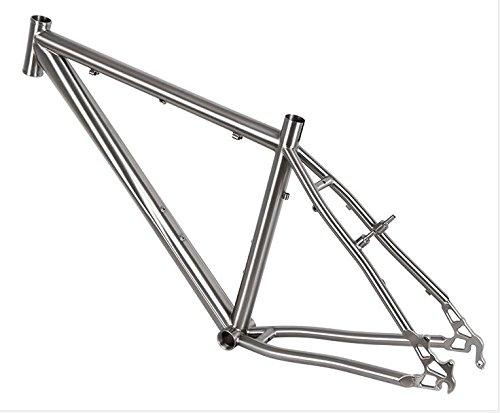 XOT Marco de titanio para bicicleta de montaña de 26 pulgad