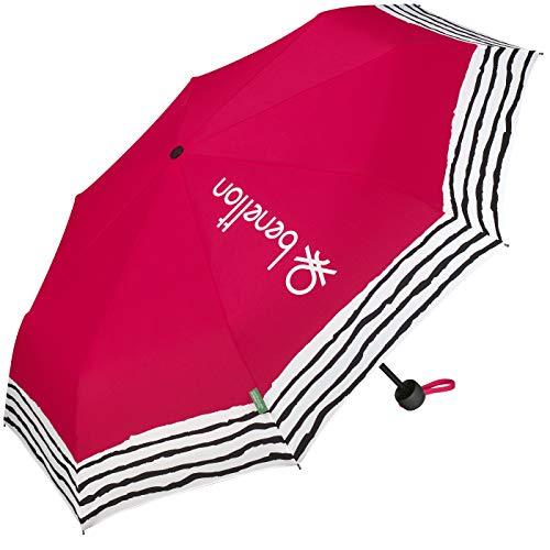 United Colors of Benetton Parapluie de poche petit et léger Rayures froissées