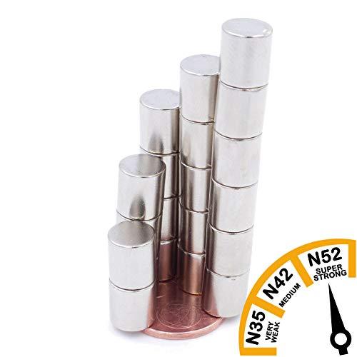 Brudazon | 15 mini schijfmagneten 9 x 9 mm | N52 dikke stand - neodymium magneten ultrasterk | Power magneet voor modelbouw, foto, whiteboard, prikbord, koelkast, knutselen | magnetische schijf extra sterk