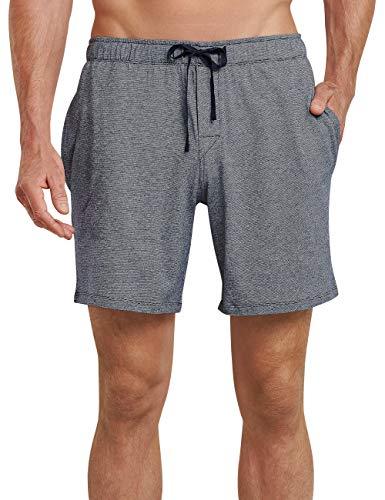 Schiesser Herren Bermuda Schlafanzughose, Blau (Dunkel-Gem. 835), X-Large (Herstellergröße: 054)