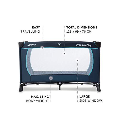 Hauck Kinderreisebett Dream N Play Plus, inkl. Hauck Reisebettmatratze, tragbar und klappbar, 120 x 60 cm, blau - 6
