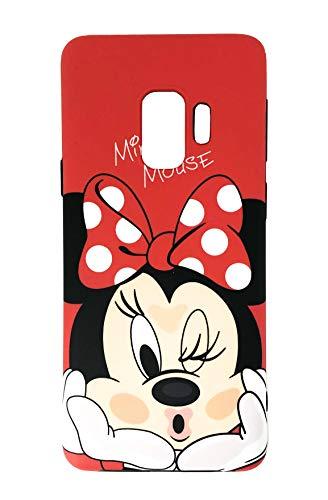 Onix Store Rot matt Fall mit Minnie Mouse Disney Cartoon Charakter, perfekte schützende Silikonhülle für Samsung (Galaxy S9)