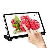 WIMAXIT 7 Inch Raspberry Pi Touch Monitor, IPS Display 1024x600 USB Powered 3.5mm Ear Jack HDMI Monitor with Speaker & Stand for Raspberry Pi 4/B 3 Win PC Raspbian, Ubuntu