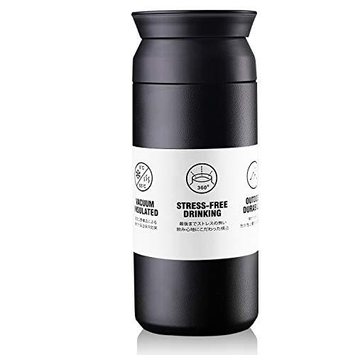 Guenx®Stainless Steel kaffeebecher, Isolierte Kaffeetasse, 100% auslaufsicher, doppelwandig und vakuumisoliert, 375 ml - Kaffee-to-Go-Becher & Tee zum Mitnehmen - Auto-Becher Reisebecher