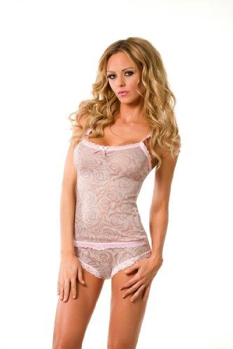 Velvet Kitten Sexy Girlfriend Grey Cami and Panty Lingerie Set 361605 Large