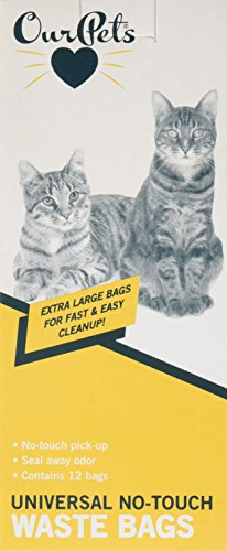 Our Pets Universal No Touch Waste Bags (12 Pack)