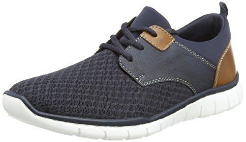 Rieker Herren B8751 Sneaker, Blau (Navy/Lake/Amaretto), 43 EU